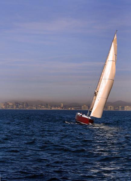 Sailing, Sunset Sail with San Diego Skyline