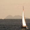 Sailing, Dusk with View on Coronado Islands
