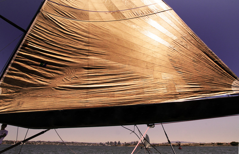 Sailing, the America Yacht Golden Sail