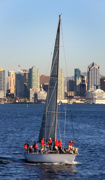Sailing, Crew on San Diego Bay