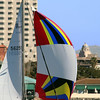 Sailing, Colorful Sail & View on Horton Plaza