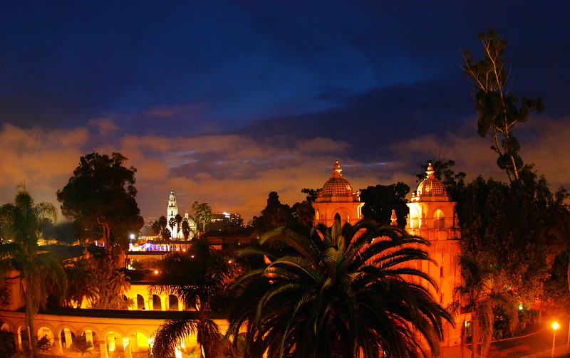 San Diego for the Holidays, Prado with Holiday Crowd, December Nights, Balboa Park