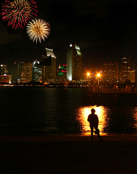 San Diego for the Holidays, Holiday Fireworks, Skyline
