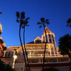 Hotel del Coronado, Holiday Lights with Palms