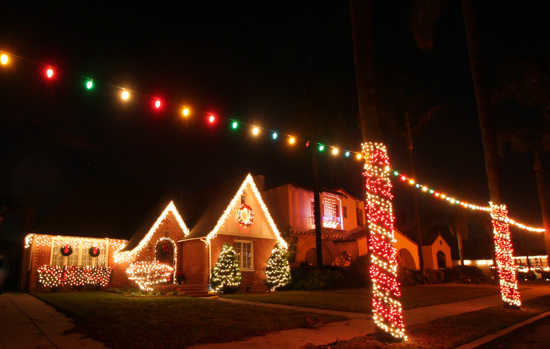 San Diego for the Holidays, Decorated Home, Kensington Neighborhood