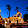 San Diego for the Holidays, Hotel Del Coronado, Holiday Lights & Palm