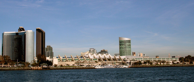 SD Convention Center, Long View from San Diego Bay