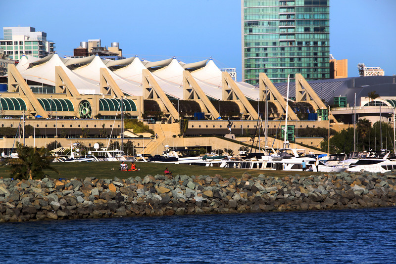 SD Convention Center, View on Embarcadero Park from Harbor