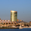 SD Convention Center, View from Bay at Dusk 2