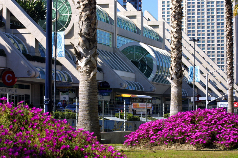 SD Convention Center, Exterior with Spring Flowers