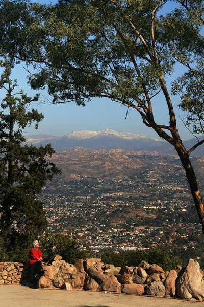 Winter View on Cuyamaca from Top of Mt  Helix