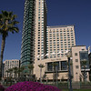 San Diego Downtown, Omni Hotel with Spring Blooms