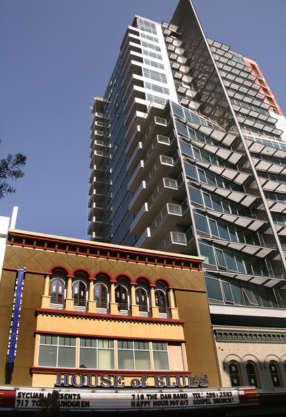 San Diego Downtown, Front View, House of Blues