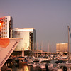 San Diego Downtown, Marriott Marina at dusk