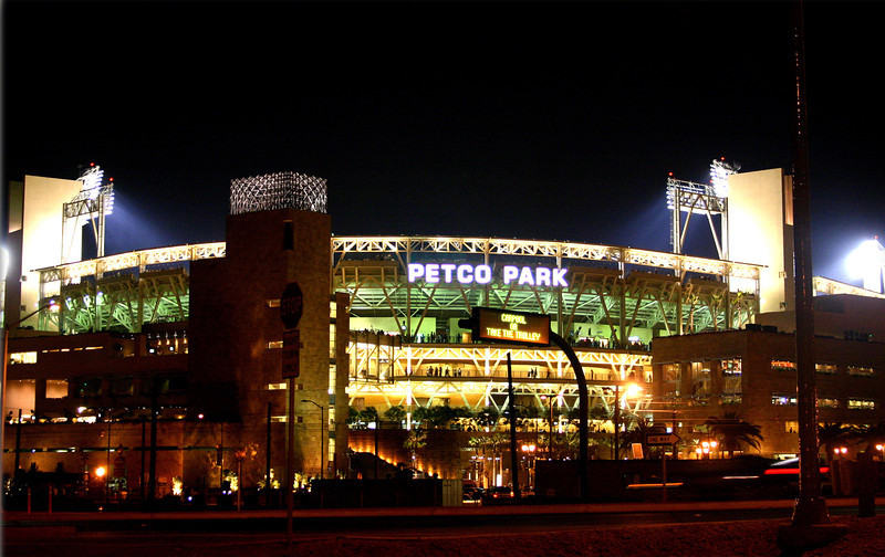 San Diego Downtown, PETCO PARK Night Side View
