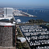 San Diego Downtown, View on Marriott Marina and Coronado Bridge
