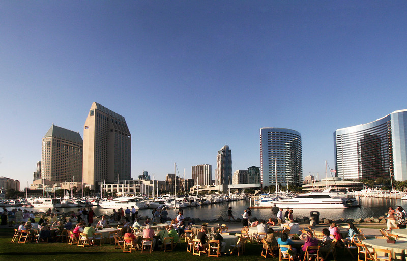 San Diego Downtown, View from Embarcadero Park North
