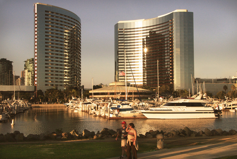 San Diego Downtown, Sunset Stroll  Along Embarcadero North