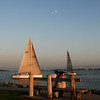 Harbor Island, Romantic Couple with Moon