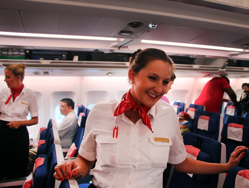 Edelweiss Airlines, Smiling Flight Attendant