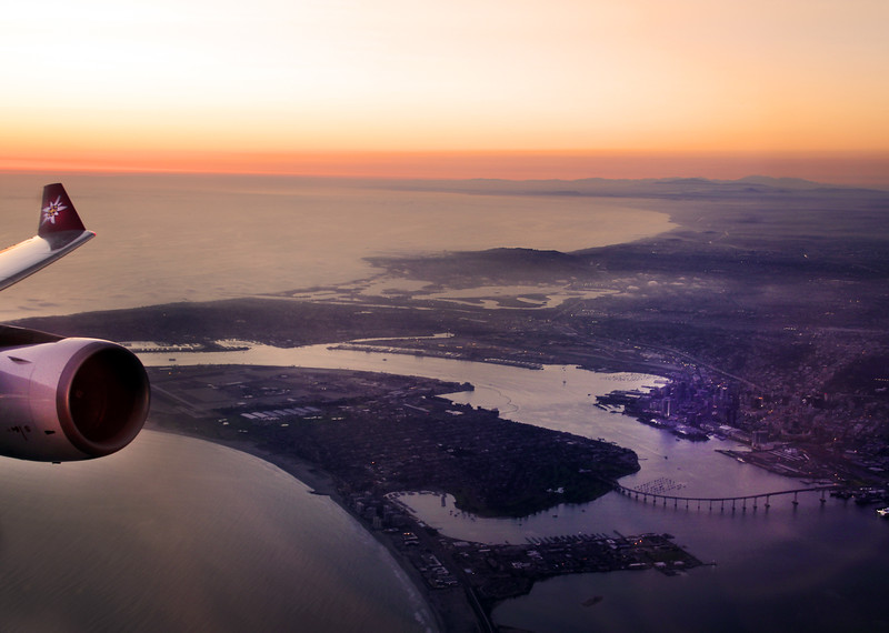 Edelweiss Airlines, Flight Path Over the City of San Diego