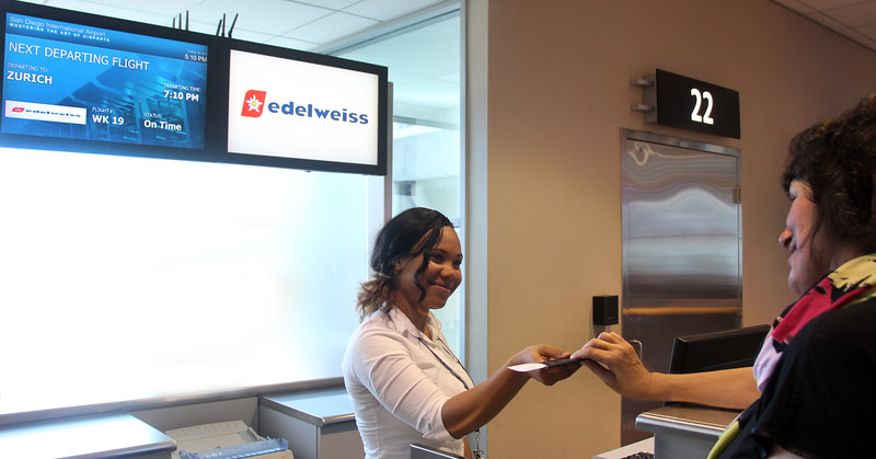 Edelweiss Airlines, Ticket Agent, San Diego