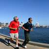 Runners Along San Diego Embarcadero