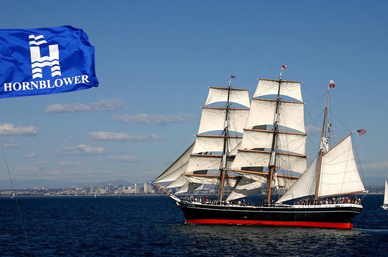 Star of India Under Sail, as Viewed from Hornblower Cruises