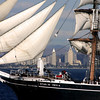 Star of India Under Sail with San Diego Skyline