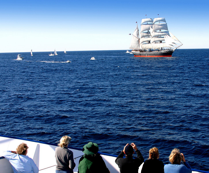 Star of India under Sail on High Seas