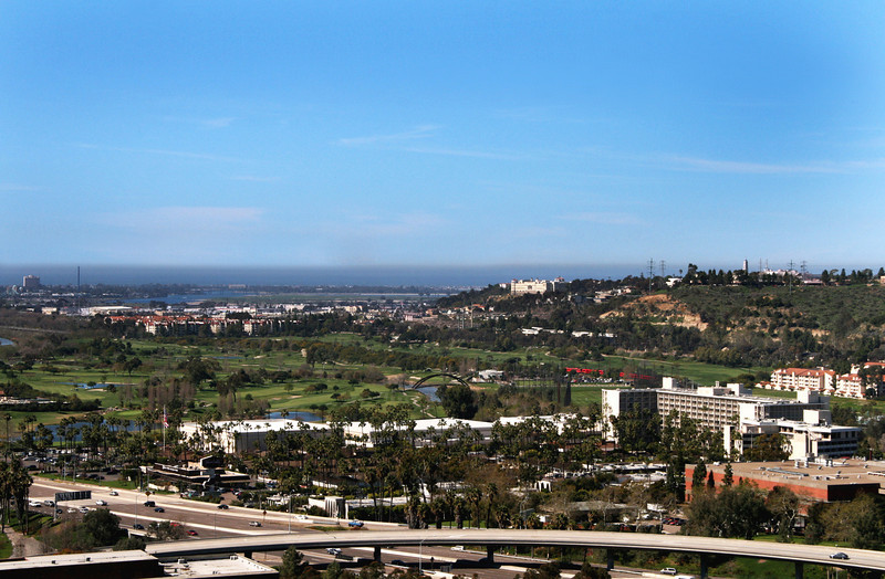 Mission Valley San Diego, View Towards Ocean and Mission Bay