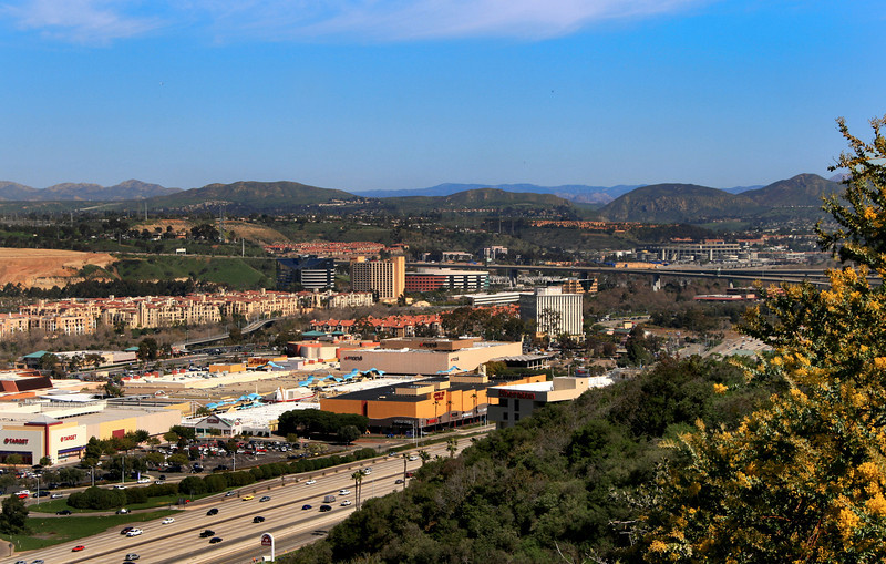 Mission Valley San Diego, View on Shopping Areas and Stadium