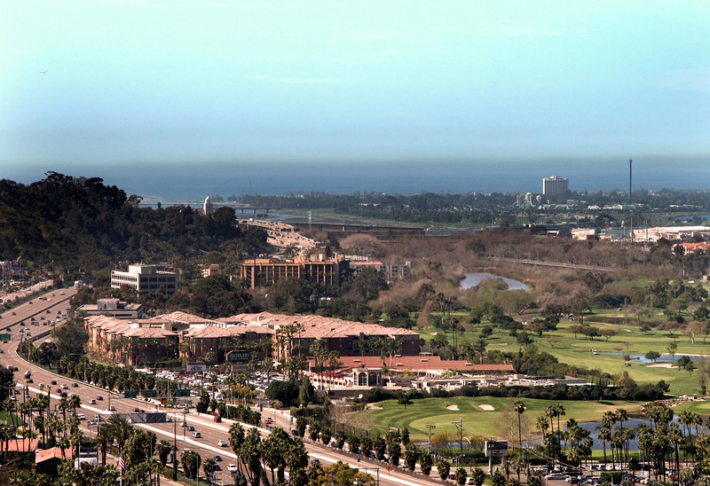 Mission Valley San Diego, Sunset View Towards Ocean and Mission Bay