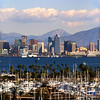 San Diego Skyline, Portrait View  from Pt  Loma