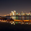 Night View on San Diego Skyline from Coronado