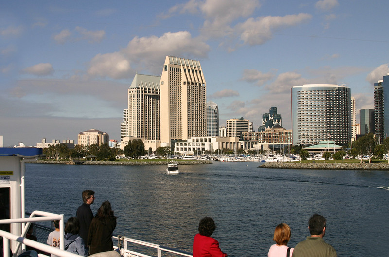 San Diego Skyline, View from Harbor Tour Boat