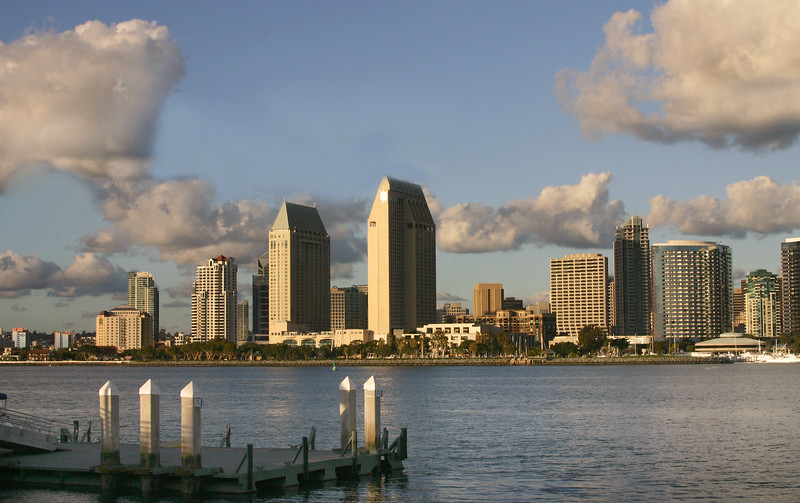 San Diego Skyline, View from Ferry Landing Coronado