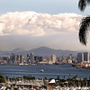San Diego Skyline, Winter Afternoon View from Pt  Loma