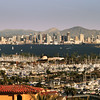 San Diego Skyline, Late Afternoon View on Skyline from Pt  Loma