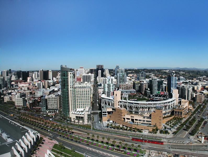 San Diego Skyline, City Scape with Petco Park