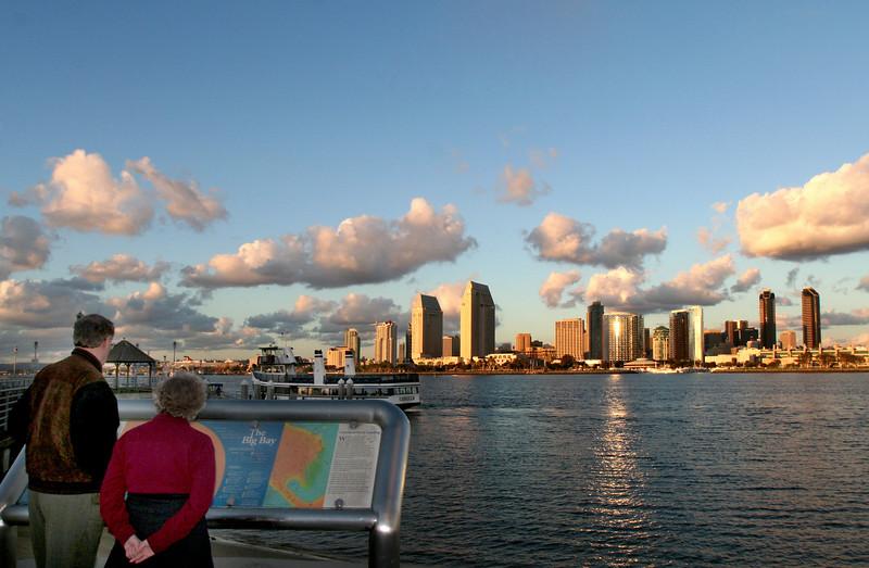 San Diego Skyline, Coronado Visitors & Golden View on San Diego