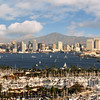 San Diego Skyline, Landscape View from Pt  Loma