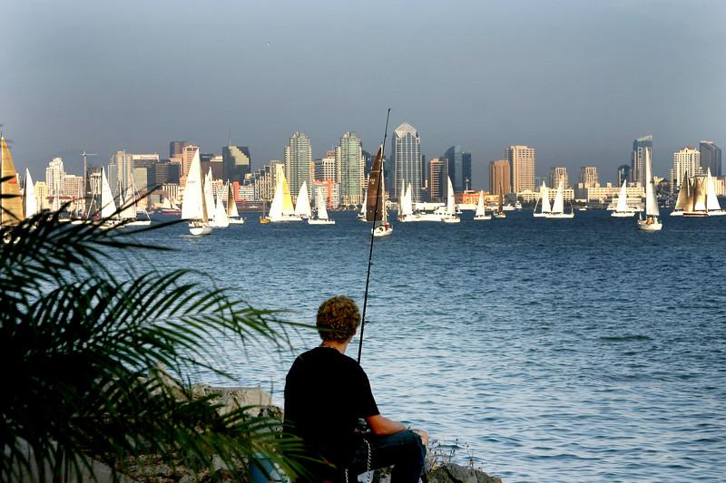 San Diego Skylines, Angler and View on San Diego Skyline