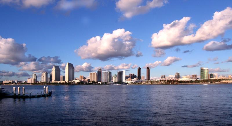 San Diego Skyline, Long View from Coronado