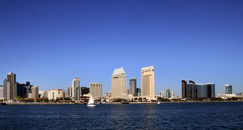 San Diego Skyline, View from Harbor