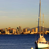 San Diego Skyline, Sailboat and Skyline at Sunset