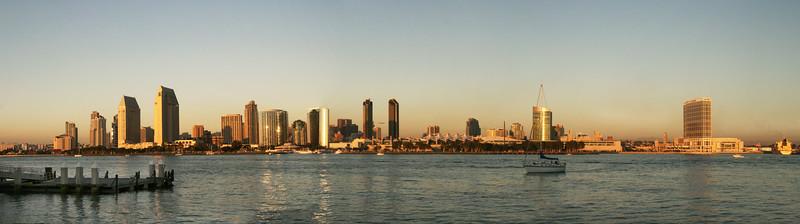 San Diego Skyline, 2009 Panorama