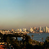 San Diego Skyline, Panorama at Sunset from Harbor Island