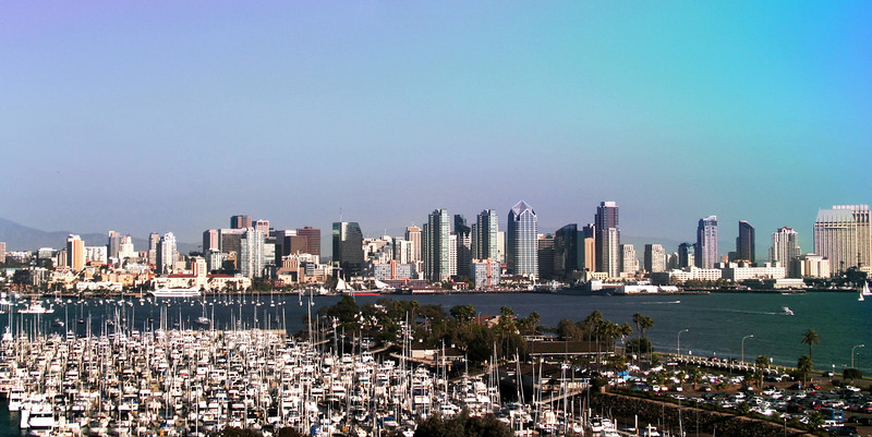 San Diego Skyline, View from Harbor Island