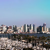 San Diego Skyline, View from Harbor Island